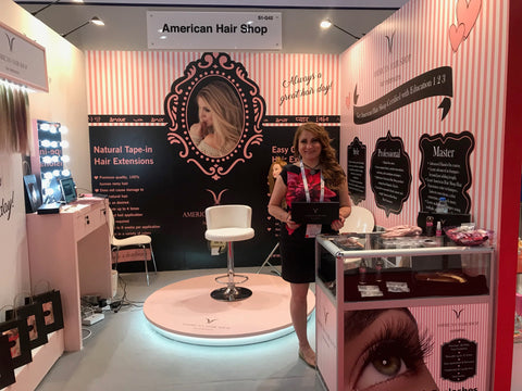 American Hair Shop booth at Beauty World 2018 in Dubai