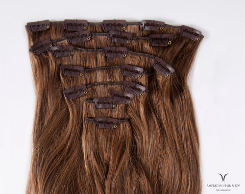 Chocolate Brown #6 Clip-in Hair Extensions