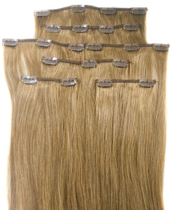 Sand Blonde #8  Clip-in Hair Extensions