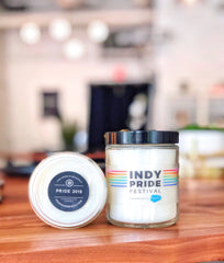 Indy Pride Festival Custom Candle