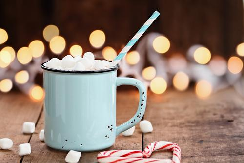 Cup of hot cocoa and marshmellows