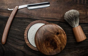 Barbershop straight razor shaving kit
