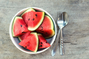 Sliced watermelon in bowl