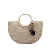 The Straw Pom Pom Tote