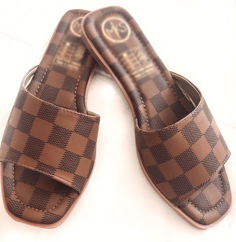 LV Sandals - Brown