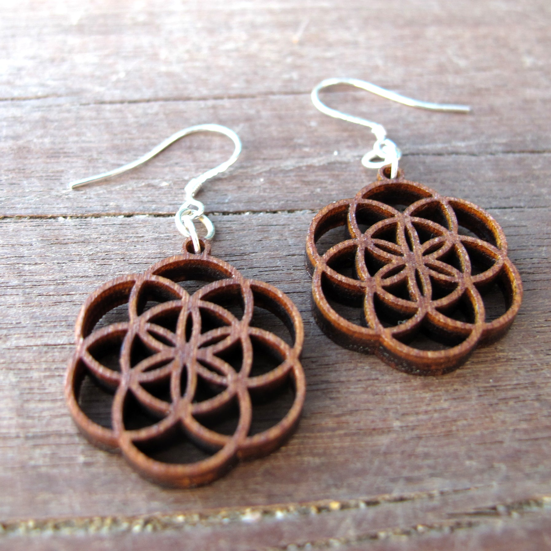 Casual Earrings Seed of Life Super Small, 20mm, Sacred Geometry Yoga