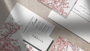 cherry blossom wedding suite - blú rose designs