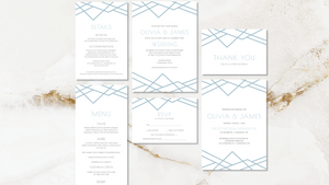 Geometric Art Deco Wedding Suite