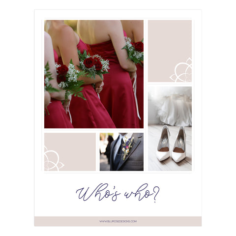 Who's Who Wedding Party Guide