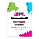 Load image into Gallery viewer, Back to the 90's Birthday Invitation - Blú Rose Designs