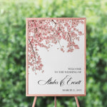 Load image into Gallery viewer, Cherry Blossom Welcome Sign - Blú Rose Designs