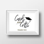 Load image into Gallery viewer, Modern Grad Cap Cards + Gifts Graduation Sign - Blú Rose Designs