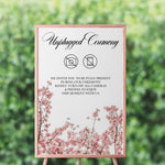 Load image into Gallery viewer, Cherry Blossom Unplugged Ceremony Sign - Blú Rose Designs