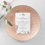 Load image into Gallery viewer, Cherry Blossom Wedding Menu - Blú Rose Designs