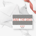 Load image into Gallery viewer, Chevron Save the Date - Blú Rose Designs