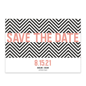 Chevron Save the Date - Blú Rose Designs