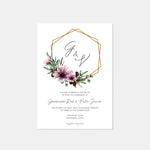 Load image into Gallery viewer, Genevieve Floral Wreath Wedding Invitation - Blú Rose Designs