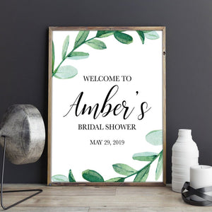Greenery Welcome Sign - Blú Rose Designs