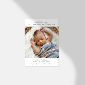Introducing Me Baby Announcement | Printable