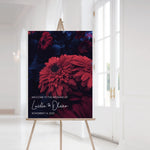 Load image into Gallery viewer, Lucille Moody Floral Welcome Sign - Blú Rose Designs