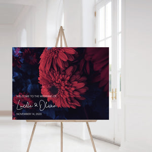 Lucille Moody Floral Welcome Sign - Blú Rose Designs