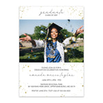 Load image into Gallery viewer, Modern Sparkle Photo Graduation Invitation