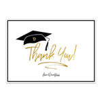 Load image into Gallery viewer, Personalized Modern Grad Cap Thank You Card - Blú Rose Designs