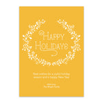 Load image into Gallery viewer, White Wreath Holiday Card