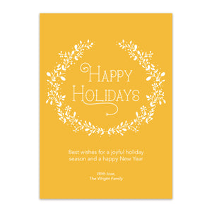 White Wreath Holiday Card