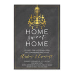 Load image into Gallery viewer, Rustic Chalkboard Home Sweet Home Invitation - Blú Rose Designs