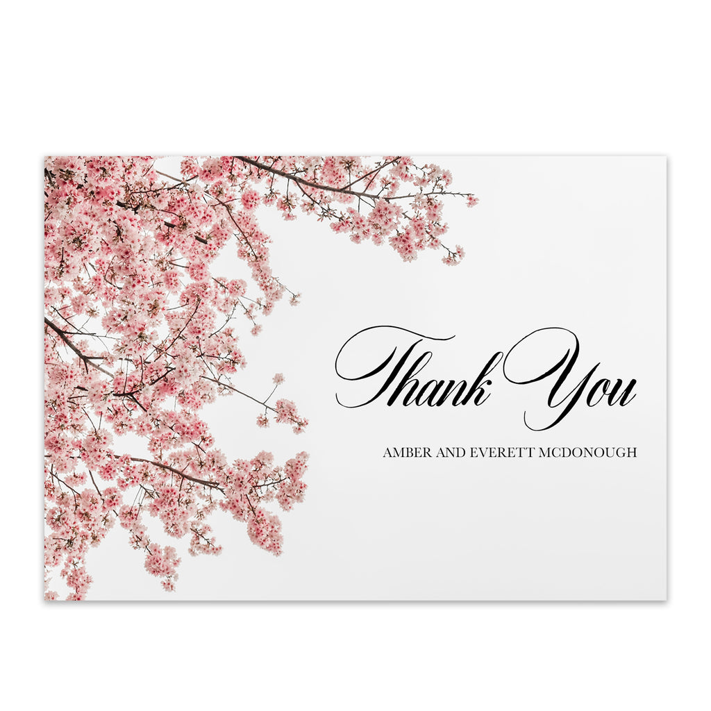Cherry Blossom Thank You Card - Blú Rose Designs