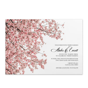 Cherry Blossom Wedding Invitation - Blú Rose Designs