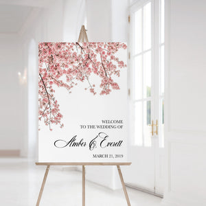 Cherry Blossom Welcome Sign