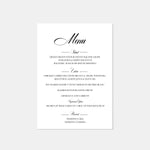 Load image into Gallery viewer, Elegant + Classy Wedding Menu - Blú Rose Designs