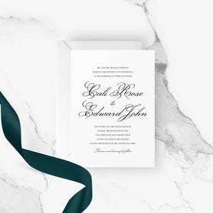 French Modern Wedding Invitation | Printable