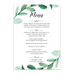 Load image into Gallery viewer, Greenery Wedding Menu - Blú Rose Designs