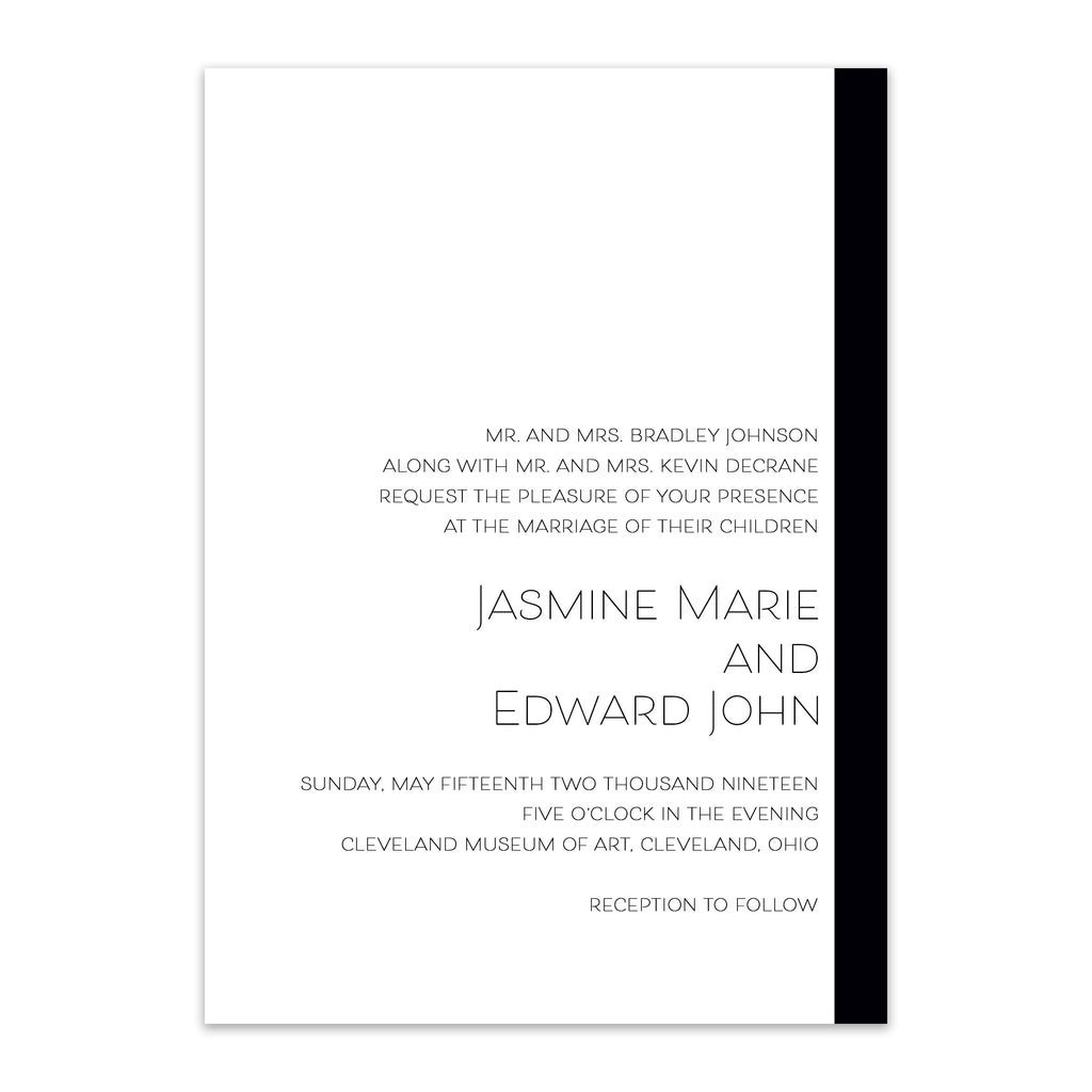 Modern Love Wedding Invitation - Blú Rose Designs