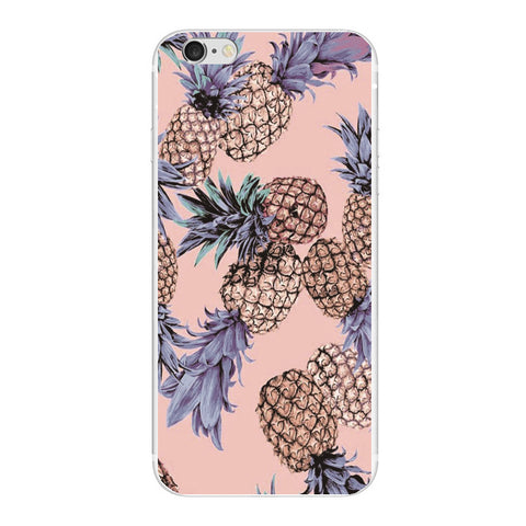 Pineapple Case With White/Black/Clear Cover for iPhone 6, 6s, 6splus, 7, 7plus