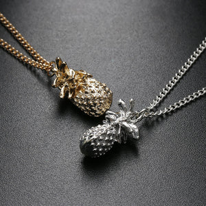 Pendant Pineapple Necklace - Gold or Silver