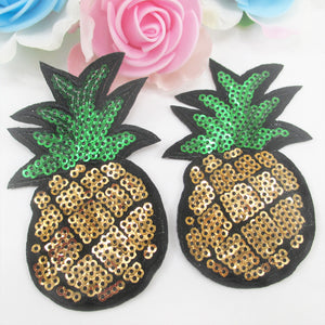 5x Sequin Pineapple Patches