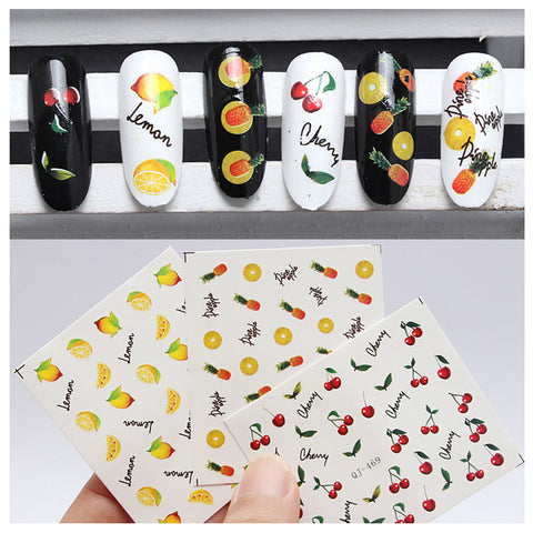 Fruit Nail Transfers - Various Designs