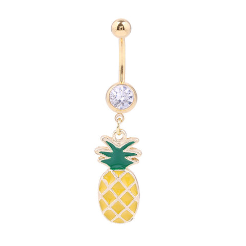Pineapple Belly Button Ring