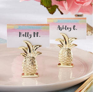 12x Gold Pineapple Place Card Holders