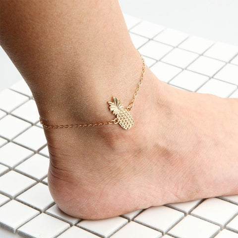 Gold Pineapple Anklet