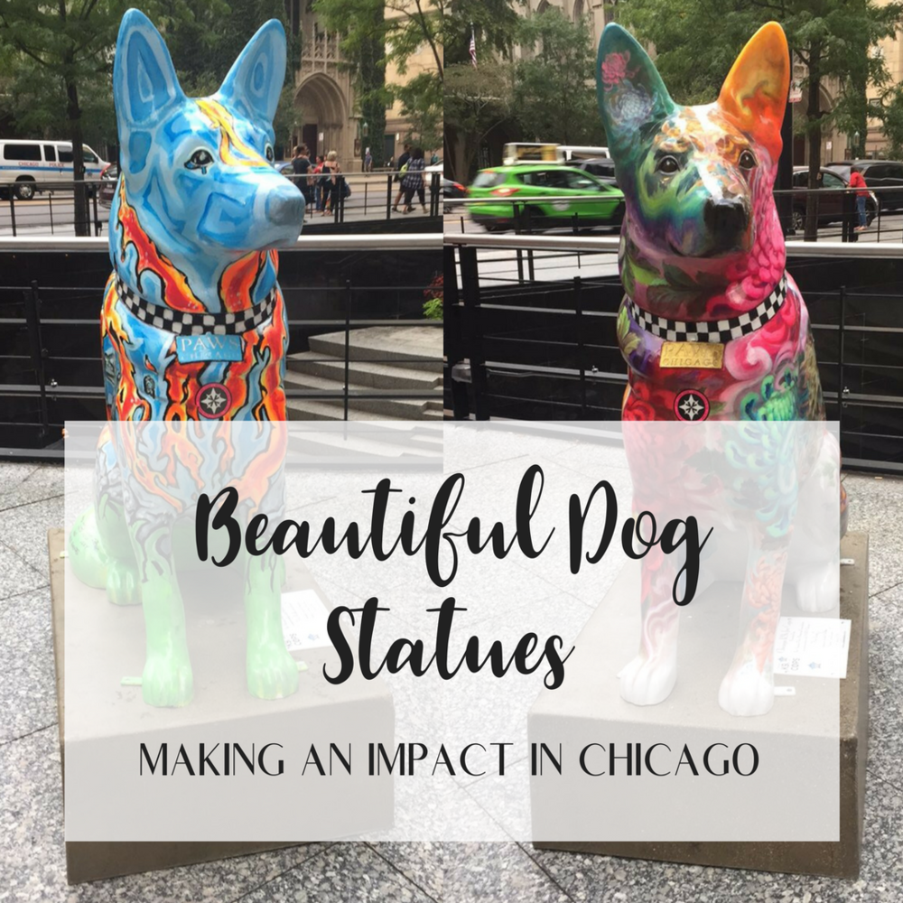 Beautiful Dog Statues Making an Impact in Chicago