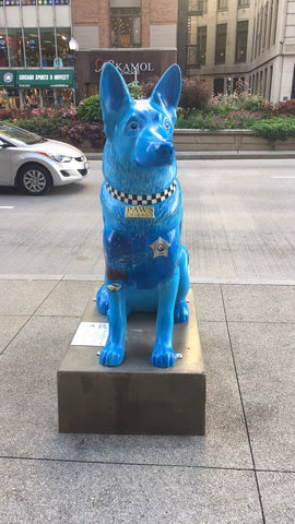 Dog Statues in chicago PAWS Chicago