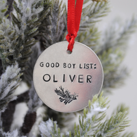 Pet's first Christmas - Dog's first Christmas - Puppy Christmas - Holiday Ornament - Secret Santa Gift - Santa's Good List - Good Boy - Good Girl