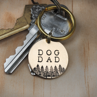 Dog Dad Keychain - Dog Dad Gift - Gift for Him - Pet Parents Gift - Fur Dad - Dog Dad Keytag - Gift for Couples - Cat Dad Gift - Unique Gift