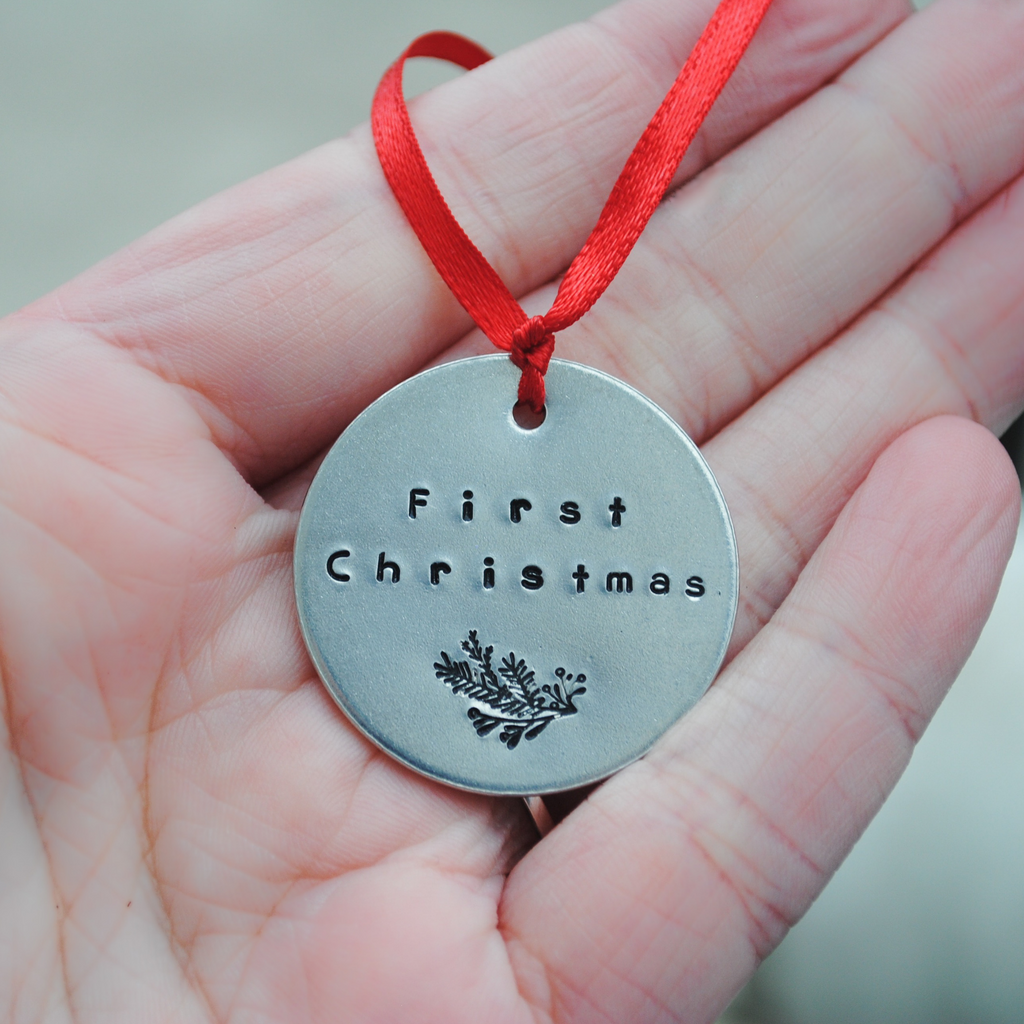 Pet's first Christmas - Dog's first Christmas - Puppy Christmas - Holiday Ornament - Secret Santa Gift