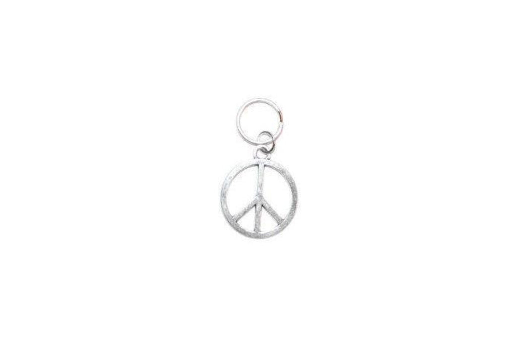 Peace Sign Pet Collar Charm